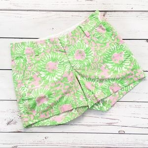 Lilly Pulitzer chipper shorts pink green lion 2